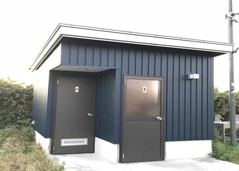 新設トイレ(温水ウォシュレット完備)※事務所内にも完備。